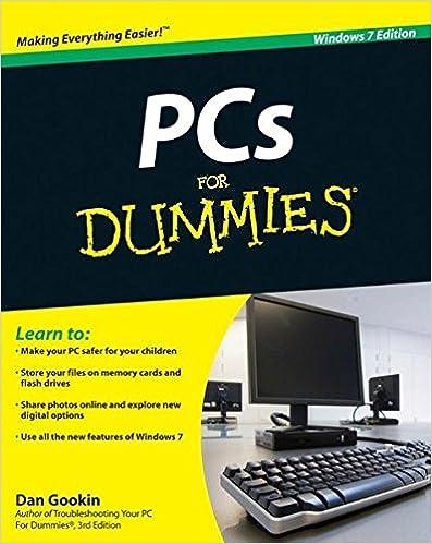 PCs For Dummies, Windows 7 Edition: Dan Gookin: 9780470465424 ...