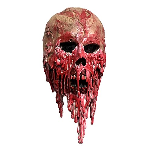 Wellin Adult Kids Bloody Horror Melted Face Scary Halloween Latex Mask (Bloody Face)