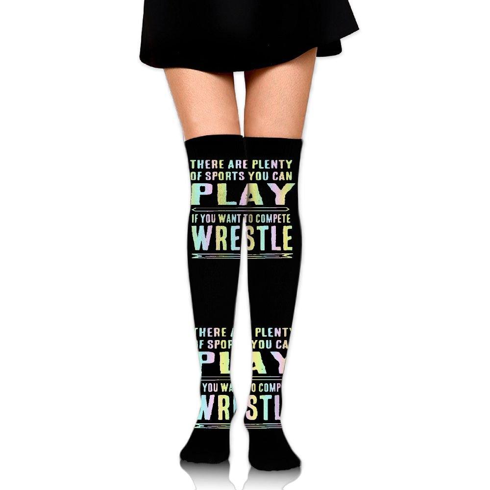 Funny Wrestling Unisex Over Knee High Socks Extra Long Athletic Sport Tube Socks
