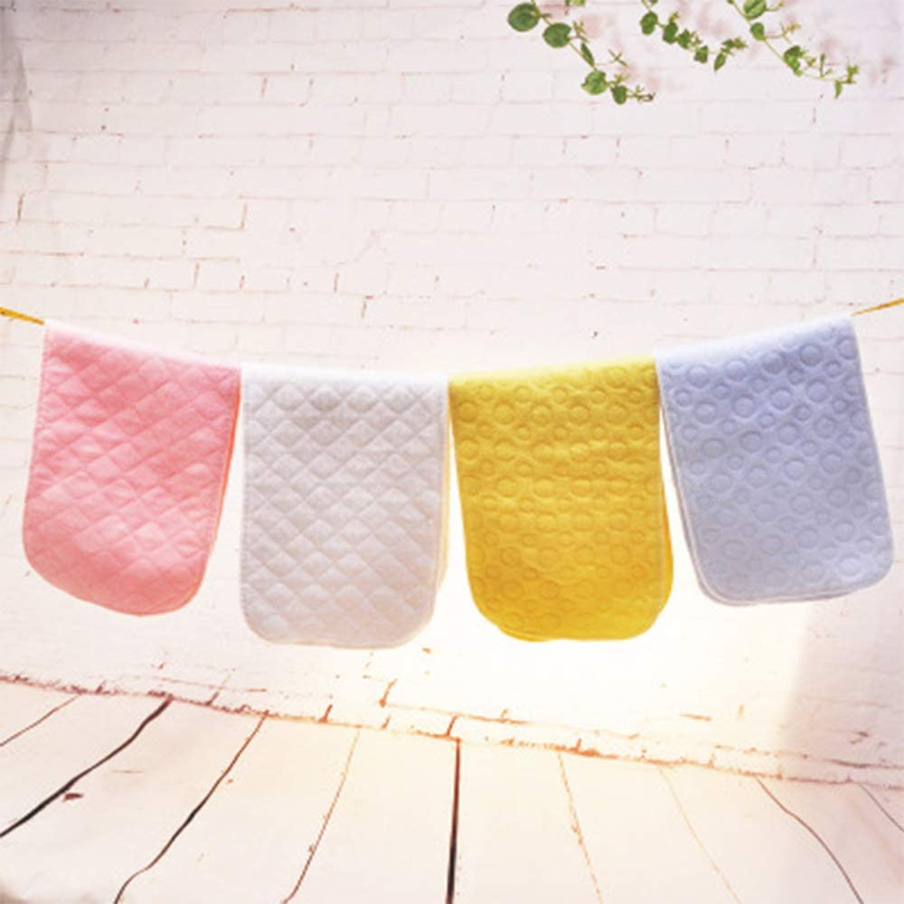 3 Layers 32 * 12 cm 12Pcs Breathable Cotton Diaper,Newborn Baby Reusable Washable Cloth Pads Infant Soft Insert Nappy