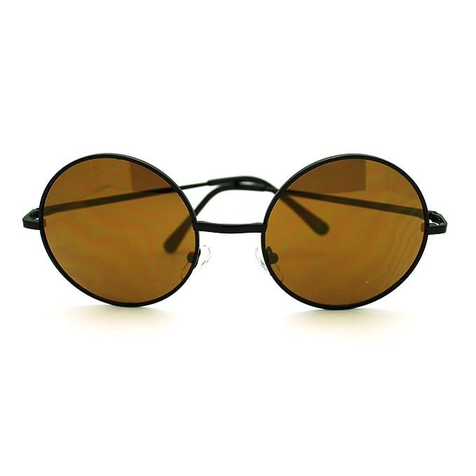 Amazon.com: Redondo Círculo anteojos de sol metal fino marco ...