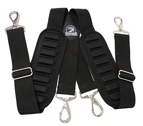 TradeGear Suspenders 207019 Heavy-Duty And Durable Adjustable Tool Belt Suspenders With Pro Comfort Padding Partnered with Gatorback Contractor Pro by TradeGear (Image #1)
