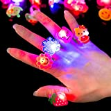 Wall of Dragon 5pc/Set Luminous Rings New Children's Toys Flash Gifts LED Cartoon Lights Glow in The Dark Toys for Childs Kids Playing in Night