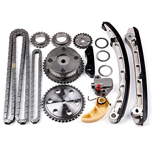 OCPTY Timing Chain Kit Tensioner Guide Rail Cam Gear fits for MAZDA 3 6 CX-7 2.3L TURBO 2007-2013 LF17-12-428 ()