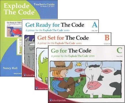Explode the Code SET--Books A, B, and C with Teacher by Educators Publishing Service