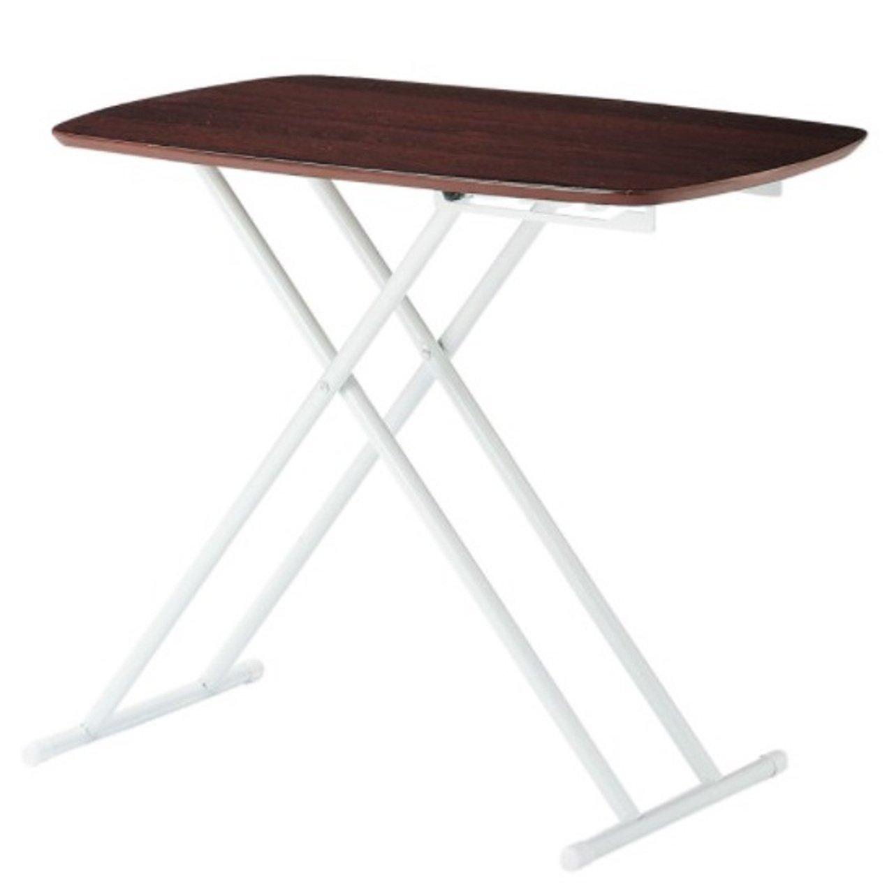 AHEART 昇降テーブル 幅75 折りたたみ コンパクト リフティングテーブル SI 70 ブラウン B07BK4714T ブラウン ブラウン