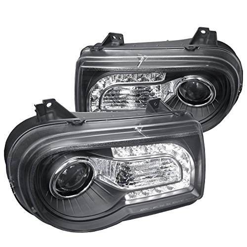 Spec-D Tuning LHP-FUS10G-TM Black Projector Headlight Gloss Housing With Smoked Lens