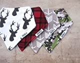 """Stadela Baby Bandana Drool Bibs for Drooling and Teething 4 Pack Gift Set for Boys """"Hunting Adventure set"""""""