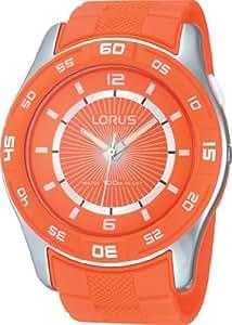 Lorus R2353HX9 - Reloj de pulsera hombre, caucho, color naranja
