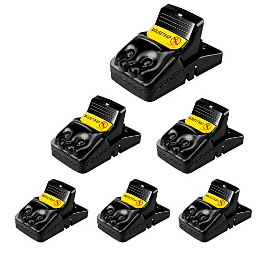 6 Pack Premium Mouse Rat Traps That Work Indoor Plastic Reusable Snap Trap For Rodents