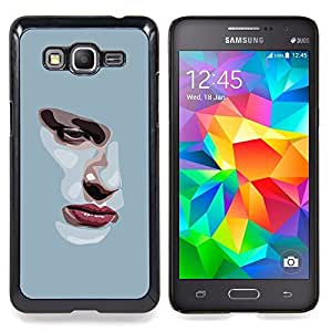 - Girl Depression Sad Heartbreak Grey - - Snap-On Rugged Hard Cover Case Funny HouseFOR Samsung Galaxy Grand Prime G530H G5308