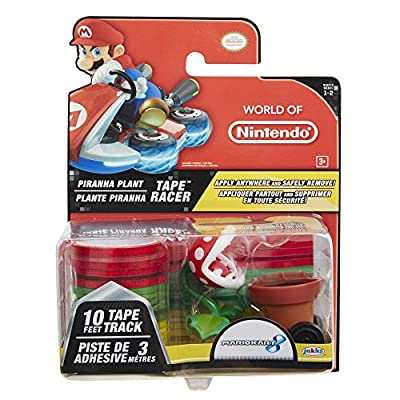 World of Nintendo Piranha Plant Tape Racer Vehicle: Toys & Games