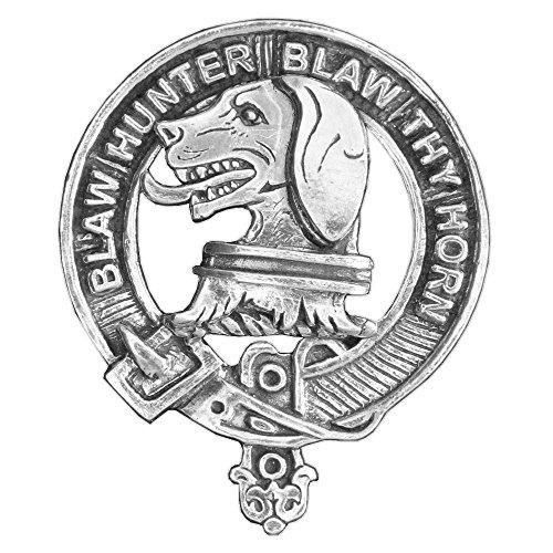 Forrester Scottish Clan Crest Badge ~ Sterling Silver by Celtic Studio