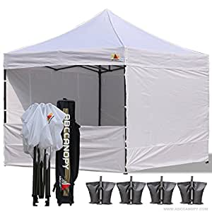 abccanopy deluxe 10x10 ez pop up canopy tent gazebo commercial tradeshow booth. Black Bedroom Furniture Sets. Home Design Ideas