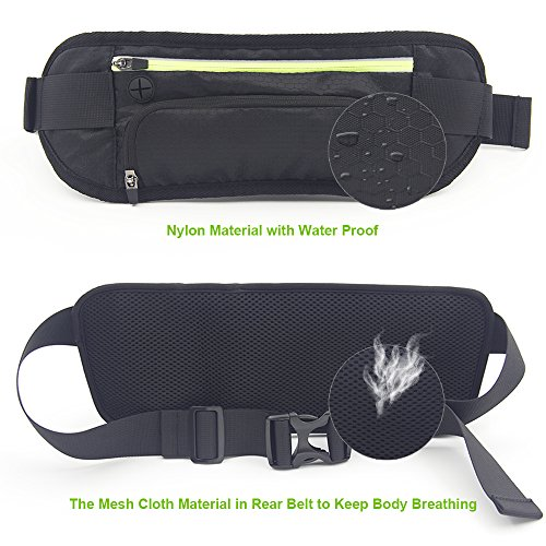 DIGIBIG Waist Bag, Fanny Pack with Bottle Holder for Hiking Cycling, Adjustable Running Belt for Women Men, Water Resistance Waist Pack Fits for iPhone or Samsung Galaxy by DIGIBIG (Image #2)