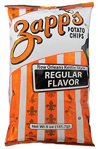(Zapp's New Orleans Kettle Style Potato Chips Regular Flavor, 5.0 OZ (2 Pack))