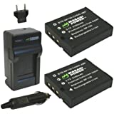 Wasabi Power Battery (2-Pack) and Charger for Casio NP-130, NP-130A and Casio Exilim EX-10, EX-100, EX-H30, EX-ZR100, EX-ZR200, EX-ZR300, EX-ZR400, EX-ZR500, EX-ZR700, EX-ZR800, EX-ZR850, EX-ZR1000, EX-ZR1200, EX-ZS1500
