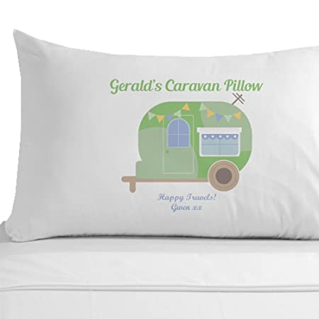 Personalised Caravan Pillowcase, Travel Gifts, Holiday Gift Ideas ...