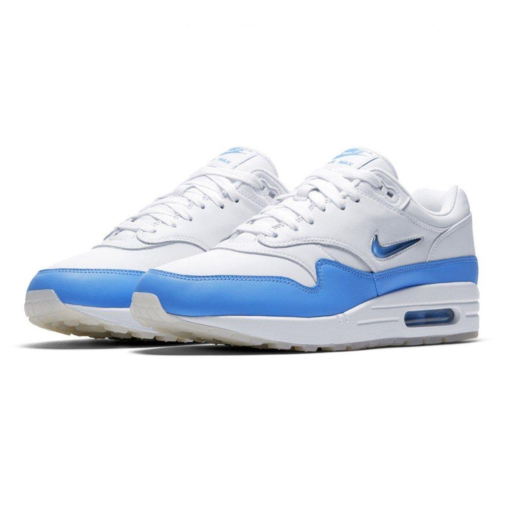 free shipping 922bb cba21 Nike Men s Air Max 1 Premium Sc Jewel 918354-102 White University Blue 11.5  UK EU 47