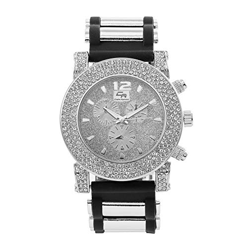 (Bling-ed Out Bezel with Glitter dial Hip Hop Watch - ST10248S)