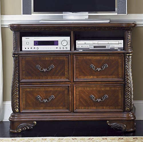 Liberty Furniture Highland Court Bedroom Media Chest, Rich Cognac Finish