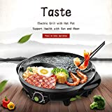 LIVEN Electric Hot Pot with Grill and Non-Stick Coating 1300W 120V TAIJI