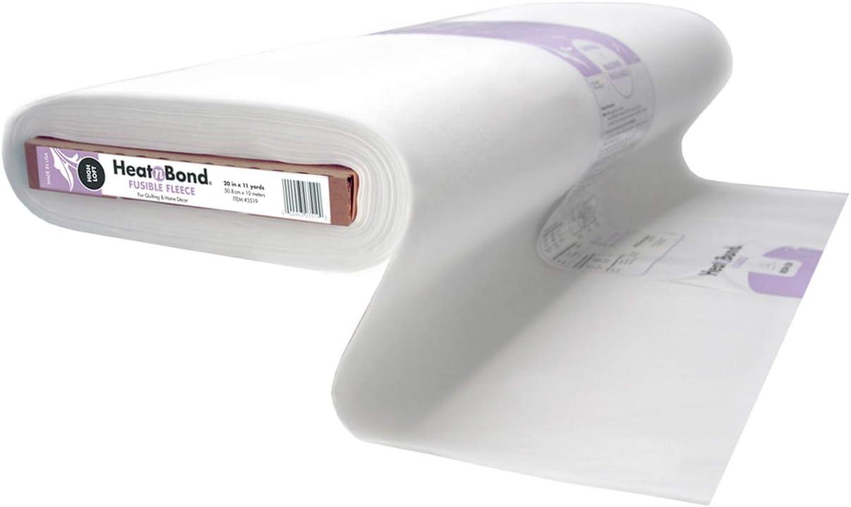 HeatnBond Fusible Fleece Iron-On Interfacing 20 Inches x 11 Yards