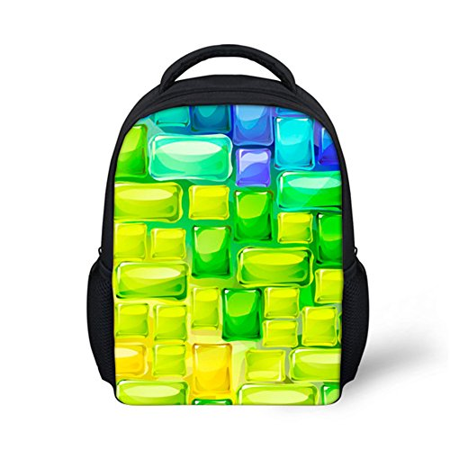 School Bag 3D Printed Cute Kids Durable Personalized Backpack Bookbags Block ONE SIZE