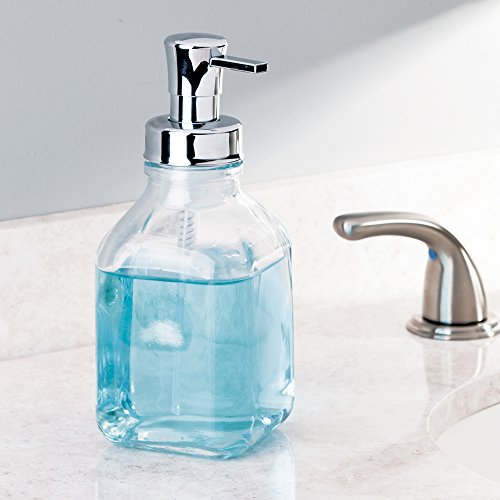 Interdesign cora glass foaming soap dispenser pump for for Bathroom accessories kuwait