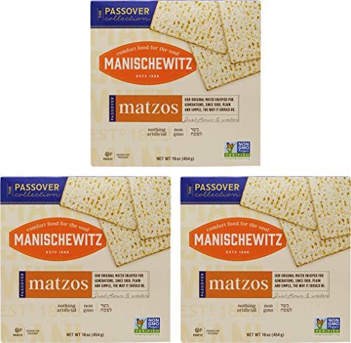 Kosher Bread - Manischewitz Kosher For Passover Matzo 3 LBS (3 Boxes)