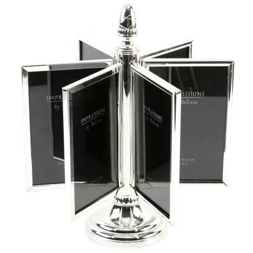 Silver Plated Spinning Photo Frame 4x6 Inch