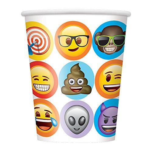 9oz Celebration Emoji Party Cups, 8ct -