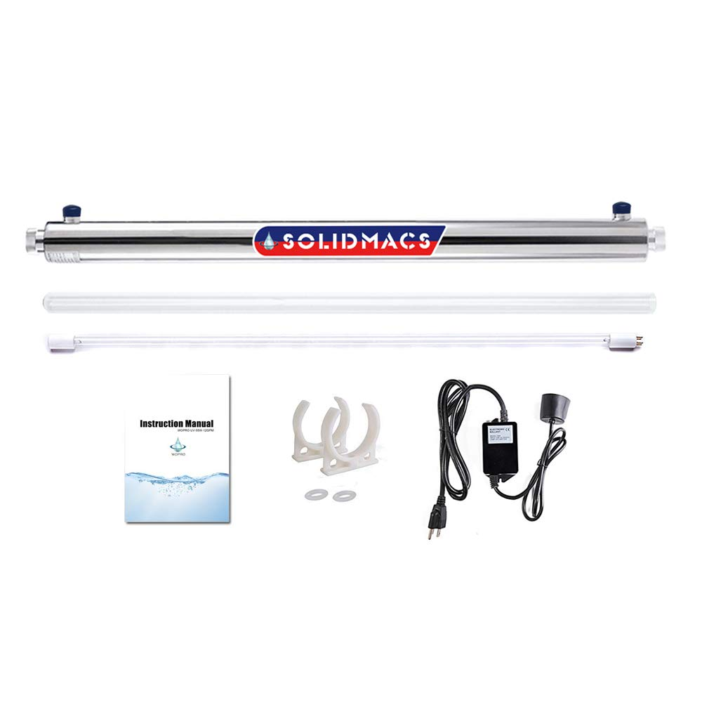 Home UV Ultraviolet Water Purifier Sterilizer Purification Filter 12GPM 55W(1 Inch MNPT)