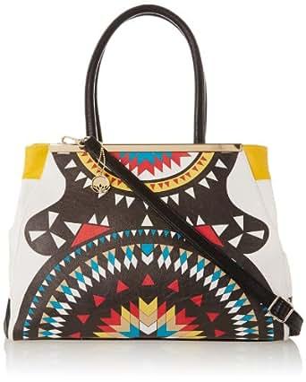 BIG BUDDHA JDahlia Satchel Top Handle Bag,Yellow,One Size
