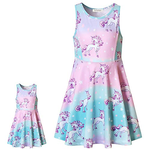 Princess Unicorn Dress Matching Girls&Dolls 18