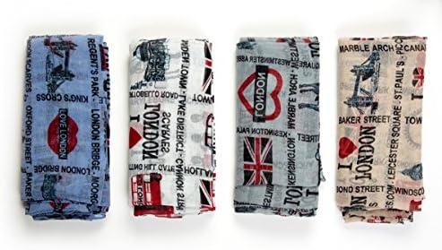 London Souvenir Fashion UK Map Print Scarf Wrap Shawl Sarong White