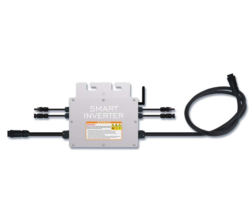 Y&H 600W Grid Tie Inverter Waterproof MPPT Stackable DC18-50V Solar Input AC110V 240V Auto,Pure Sine Wave Output for 30V 36V PV Panel by Y&H