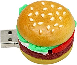 Pen Drive Cartoon 4GB USB 2.0 Flash Drive Zip Drive - Novelty Food Series Memory Stick Thumb Drive Hamburg Pendrive with Box - Civetman