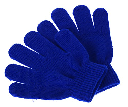 Pinksee Kids Boys Girls Winter Warm Stretchy Knitted Magic Gloves Blue One Size (Magic 1 Gloves)