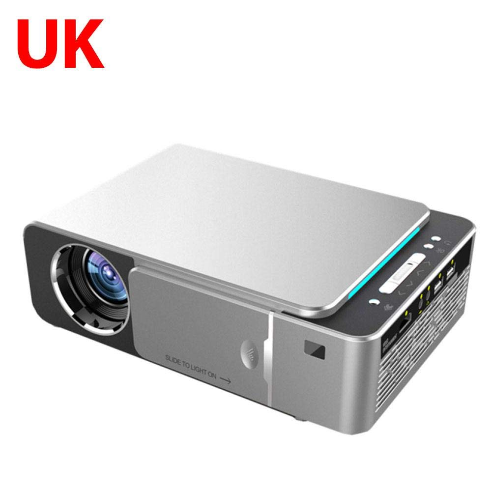 Lotuny T6 3500 Lumens HD Portable LED Projector 1080P HD Video Projector USB VGA HDMI Beamer with IR USB AV VGA HDMI SD Card Port for Home Cinema Awesome by Lotuny