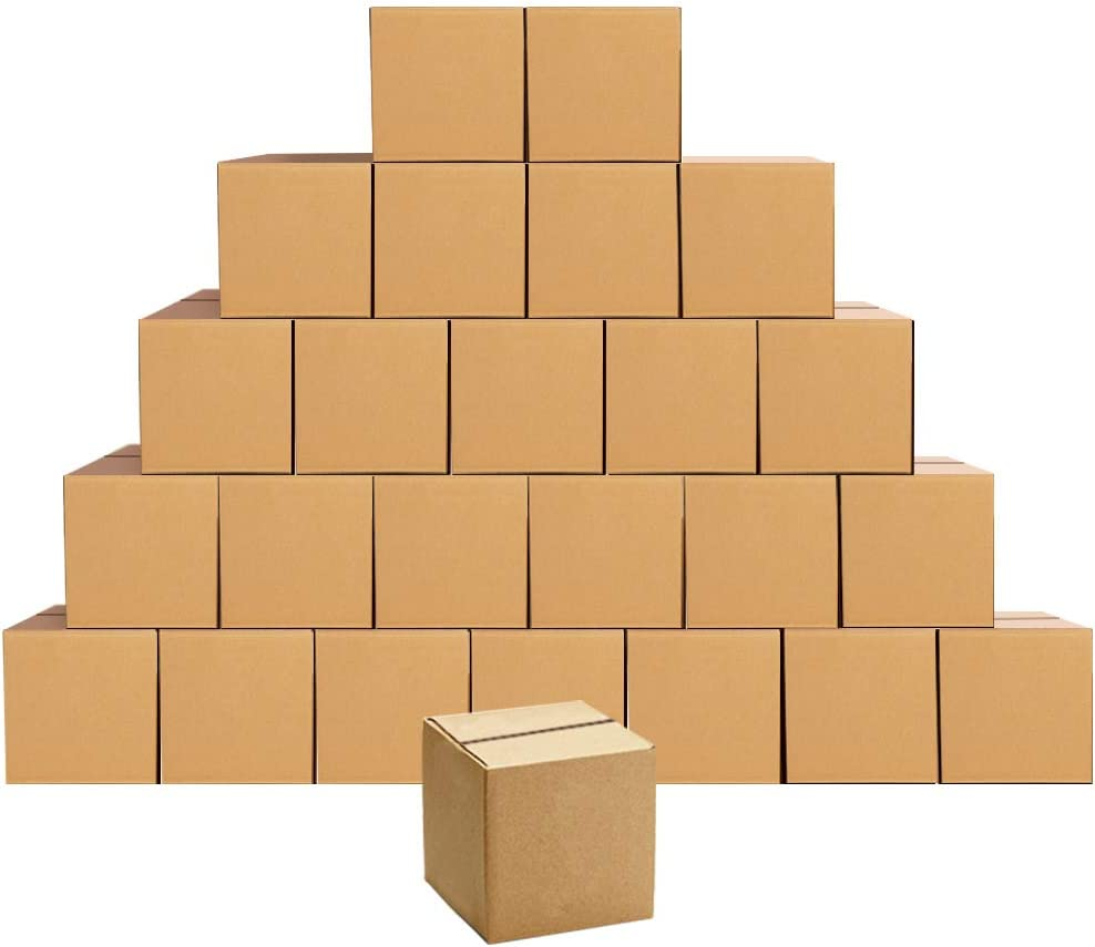 Shipping Boxes Small 5 x 5 x 5 inches Cardboard Boxes, 25 Pack