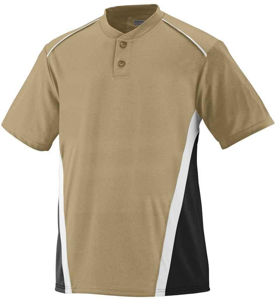 Augusta Sportswear Boys ' RBI野球ジャージー B00E1YUAJ2 Large|Vegas Gold/Black/White Vegas Gold/Black/White Large