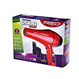 Cheap Kiss Products Red Ceramic 2500 Watt Turbo Dryer Plus 3 Styling Attachments, 2.7 Pound