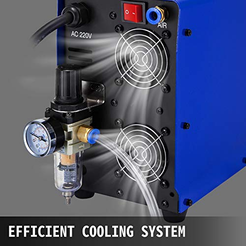 Mophorn Plasma Cutter 70 Amp, Plasma Cutting Machine 220V, Compact Metal Cutting Machine 20mm(3/4 Inch) Cutting Thickness, IGBT Inverter Digital Portable Plasma Welding Machine
