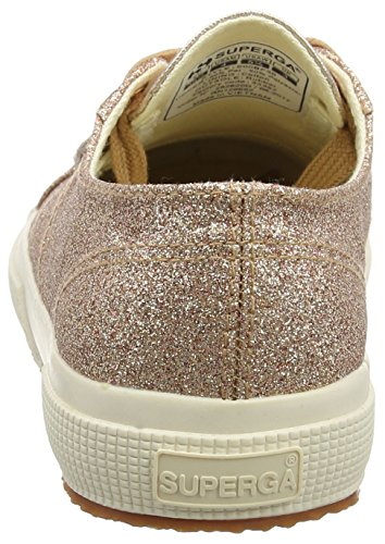 Baskets 2750 Microglittercotmetcoccow Superga Gold Doré Femme Rose Orange Multicolore 916 BOEqqa15w