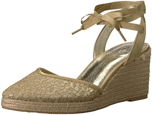 Papell Sandal Gold Lace Pamela Valencia Wedge Women's Adrianna d7qCd