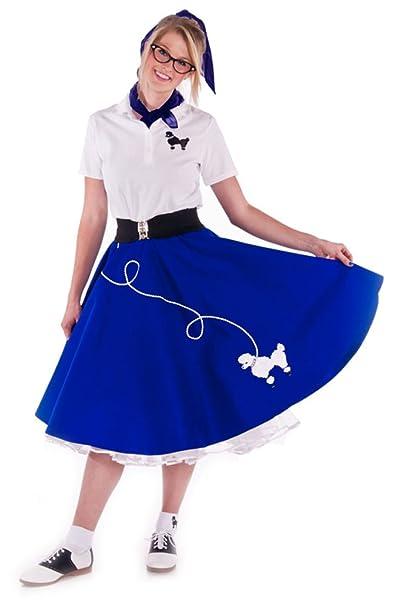 How to Dress for a 50s Sock Hop Hip Hop 50s Shop Adult 4 Piece Poodle Skirt Costume Set $57.82 AT vintagedancer.com