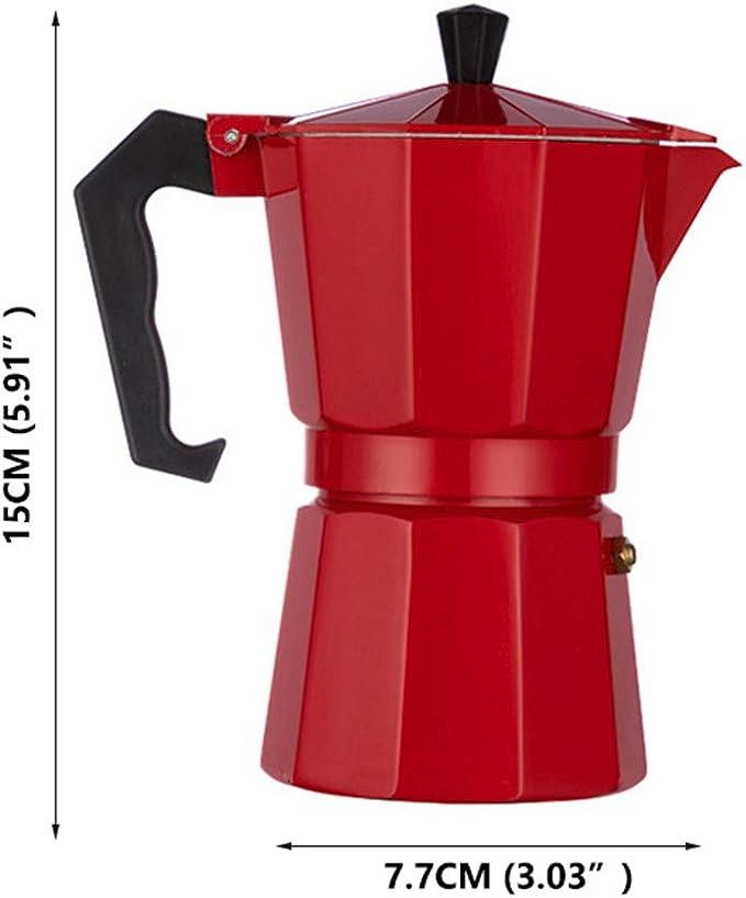 LQKYWNA Cafetera Octogonal Cafetera de café exprés Moka Mocha de ...