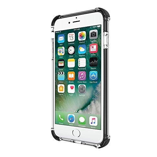 Incipio [Sport Series] Reprieve Schutzhülle für Apple iPhone 7 Plus / 8 Plus nach US-Militärstandard in transparent/schwarz [Extrem robust | Verstärkte Ecken | Kratzfeste Beschichtung] - IPH-1496-CBK