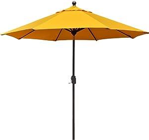 EliteShade Sunbrella 9Ft Market Umbrella Patio Outdoor Table Umbrella with Ventilation and 10 Years Non-Fading Guarantee (Sunbrella Sunflower Yellow)